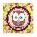 Owl Pink Napkins 